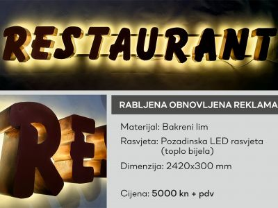 restaurant rabljena  Price